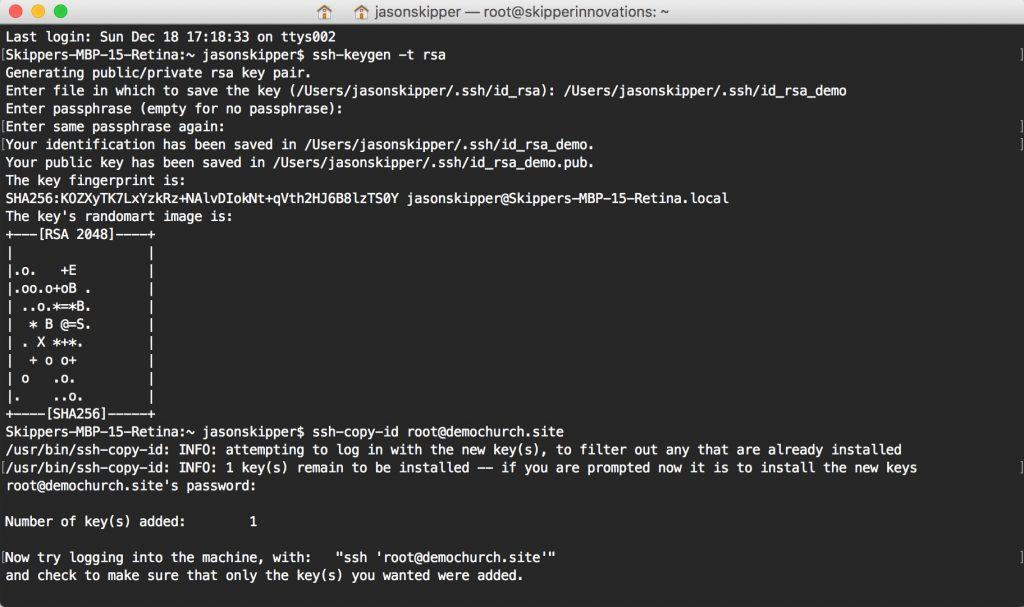 creating an SSH Key on Mac